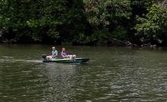 Having fun (Millie Cruz) Tags: people man men boating river schuylkillriver schuylkillcounty water boat fun endofsummer smiling speeding trees leaves plants canoneos5dmarkiii ef24105mmf4lisusm friends philadelphia