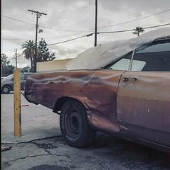 Dodge after the rain (ADMurr) Tags: la hollywood beatup rainy day convertible rolleiflex 35 kodak portra 160 zeiss planar daa431