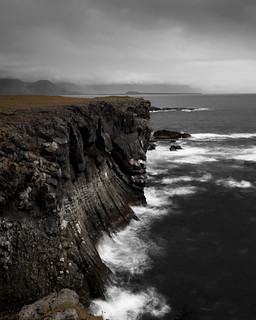 Stormy cliff