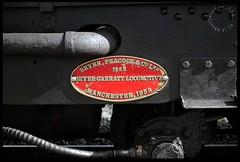 Builders Plate - NG138 (zweiblumen) Tags: beyerpeacockcoltd buildersplate locomotive steam narrowgauge welshhighlandrailway rheilffordderyri 1958 manchester garratt porthmadog gwynedd wales cymru uk canoneos50d polariser zweiblumen