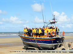 THE LIFEBOAT CREW (tommypatto : ~ IMAGINE.) Tags: rhyl northwales wales lifeboats seaside