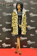 Leopard printed fur coat by ELENPRIV (elenpriv) Tags: leopard furcoat elenpriv elena peredreeva handmade clothes dollclothes 16fashion fr16 fashionroyalty jasonwu integrity toys doll fashion cestchic collection