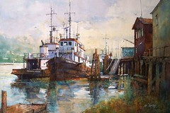 Seaport By Ian Ramsay, Watercolor (katalaynet) Tags: follow happy me fun photooftheday beautiful love friends