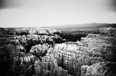 Bryce Canyon, UT (cestlameremichel) Tags: canon ae1 washis washi s film bnw black white monochrome monochromatic landscape usa roadtrip 35mm america analog analogue analogica noir et blanc bryce canyon utah