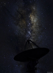 HartRAO Milky Way (AstroSocSA) Tags: milkyway galaxy radiotelescope dish radioastronomy astrophotography silhouette science astronomy universe space cosmos nightsky stars southafrica august2018 martin heigan astroimaging southernhemisphere hartrao exploration exploring learning astrometry kat ska astrometrydotnet:id=nova2773104 astrometrydotnet:status=solved