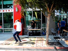 dance party in front of les gourmands (citymaus) Tags: sf sanfrancisco folsom street soma mosso les gourmands dance party dj cafe sidewalk sundaystreets openstreets event 2018