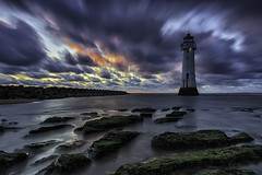 Seascape......with a lighthouse....... (gmorriswk) Tags: clouds formatthitechfirecrest fortperchrock sunset longexposure newbrighton landscape seascape lighthouse