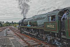 Steam Power (Allan Jones Photographer) Tags: steamtrain railway rails steampower lorddowding battleofbritainclass plymouthstation hdr photoshop allanjonesphotographer canon5div canonef24105mmf4lisiiusm lightpacific34046 infiniteexposure