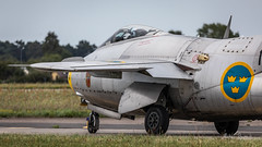 Saab J29 Tunnan (Michał Banach) Tags: canoneos5dmarkiv gdynia gdyniaaerobaltic gdyniaaerobaltic2018 poland polska saabj29tunnan sigma150600f563dgoshsmsports swedishairforcehistoricflight airshow pomorskie pl