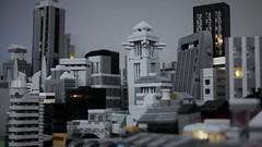 Lego Micro Scale Gotham City (TheBrickDen) Tags: lego legomoc moc batman legobatman legocreation dccomics gotham city microscale micro scale miniture skyscraper