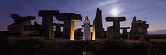 The Druid (Le2 - www.le2.es) Tags: woman druid salamanca nightphotography nightscape stars moonrise cromlech summer