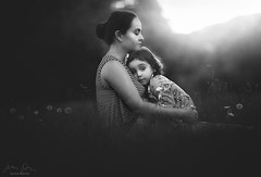 Mother and Daughter ({jessica drossin}) Tags: jessicadrossin mother daughter love parent child bond blackandwhite dandelion portrait family wwwjessicadrossincom