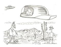 Scopidi Soccer Club (rod1691) Tags: myart art sketchbook bw scfi grey concept custom car retro space hotrod drawing pencil h2 hb original story fantasy funny tale automotive illustration greyscale moonpies sketch sexy voodoo soccer