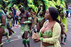 DSC_8282 Notting Hill Caribbean Carnival London Exotic Colourful Green and Yellow Costume with Ostrich Feather Headdress Girls Dancing Showgirl Performers Aug 27 2018 Stunning Ladies Big Beautiful Woman BBW (photographer695) Tags: notting hill caribbean carnival london exotic colourful costume girls dancing showgirl performers aug 27 2018 stunning ladies green yellow with ostrich feather headdress big beautiful woman bbw
