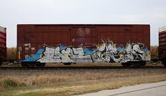 Banz/Grom (quiet-silence) Tags: graffiti graff freight fr8 train railroad railcar art boxcar banz grom grominate voltron sry sry9280