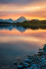 Orange Crush (JMK/Photography) Tags: grandtetonnationalpark gtnp oxbowbend water sunset sunrise orange jackson wyoming nationalpark rocky mountmoran nikon nikond810 1635f4 landscape landscapephotography beautiful jmkphotography
