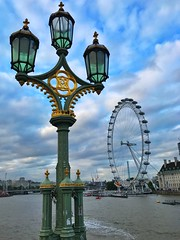 London eye. Shot with iPhone 7 plus (Vaas.V) Tags: uk london composition perspective iphonephotography bluesky clouds mobilephotography londoneye mobile iphone7plus