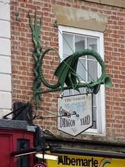 Green Dragon Yard (Glass Horse 2017) Tags: teesside stocktonontees sign signsunday greendragonyard publicart dragon