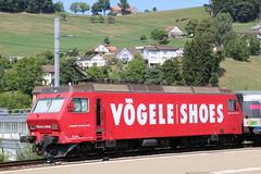 2018-08-20, SOB, Herisau, Re 456 094 (Fototak) Tags: locomotive elok re456 eisenbahn treno railway train switzerland sob vögeleshoes 456094