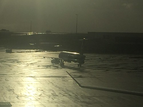 Late afternoon at Auckland airport