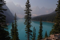 Beautiful Moraine Lake.     #morainelake #canada #banff #albertacanada #beautifulblue (samanthiagleason) Tags: canada morainelake albertacanada beautifulblue banff