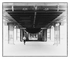 You Will Never Walk Alone... (kurtwolf303) Tags: person monochrome berlin germany mft kurtwolf303 olympusem1 omd microfourthirds micro43 architecture deutschland bw sw walk spaziergang monochrom urban streetphotography street nollendorfplatz