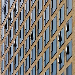 Rhythmic Pleasures (Paul Brouns) Tags: opening opened grid window windows rhythm perspective architecture achitectuur architektur архитектура окна open pattern berlin berlijn duitsland deutschland germany illumination paulbrouns paul brouns paulbrounscom geometry gemetrical geometric office space square берлин германия scattered order depth