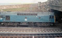 Falkland Yard 25196 heads off on flask trip early 80's c699 (Ernies Railway Archive) Tags: ayr falklandyard gswr lms scotrail