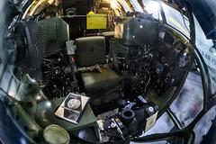 B29 cockpit (speedcenter2001) Tags: sac museum strategicaircommand omaha ashland nebraska planes aircraft flugzeug manualfocus nikon16mmf35ai fisheye b29 norden cockpit