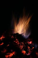 Bonfire (Derbyshire Harrier) Tags: fire hot burning 2018 september autumn derbyshire holmesfield glow bonfire charcoal flames