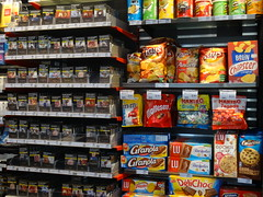 Poisons (Jeanne Menjoulet) Tags: junkfood cigarettes tobacco rayons vente tabac poison paquets poisons biscuits chips belin haribo granola lu pépito mm neutres