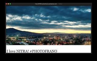 BLOG: I love NITRA! PHOTOFRANO