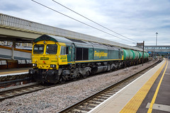 66955 - Peterborough - 28/08/18. (TRphotography04) Tags: freightliner 66955 creeps past peterborough working 0914 ipswich ss lindsey oil refinery fl