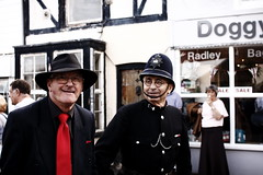 Saucy Arrest (leftyguk) Tags: sheringham norfolk sigma30mm14 canon760d 1940sweekend police