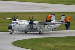 United States Navy · Grumman C-2A Greyhound · 162161 (cn 41) · KCMH 9/16/18 (Micheal Wass) Tags: cmh kcmh johnglenncolumbusinternationalairport johnglenncolumbusintlairport johnglenninternationalairport johnglennintlairport johnglennairport unitedstatesnavy usnavy vrc40 fleetlogisticssupportsquadron40 grumman c2 grummanc2 c2greyhound grummanc2greyhound