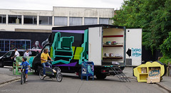 Truck in Truck roadtrip gallery #truckintrucks (Red Cathedral [FB theRealRedCathedral ]) Tags: redcathedral aztektv sony alpha slt mkii sonyalpha a77ii a77 dslr sonyslta77ii translucentmirrortechnology wanderlust digitalnomad streetart urbanart contemporaryart graffiti alittlebitofcommonsenseisagoodthing eventcoverage streetphotography travellingphotographer mos meetingofstylesbelgium meetingofstyles mos2018 wip antwerp antwerpen zomerfabriek summer graffitijam truckintruckroadtrip truckintruck