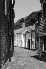 IMG_3984_edited-1 (Lofty1965) Tags: boscastle cornwall cobbles streat village white cottage blackandwhite