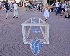 3D fantasy (andzwe) Tags: leeuwarden 3d escher dance fantasy streetart straat driedimensionaal people netherlands dutch city cities panasonicdmcgh4 balancing act 3dfantasy fantasie verbeelding verbeeldingskracht mcescher nederland