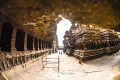 DSC_6331 (Ranjith_july) Tags: architecture archaeology paintings carvings india fisheye traveller wanderlust maharashtra aurangabad sky lowlight structure caves ellora ancient history buildings