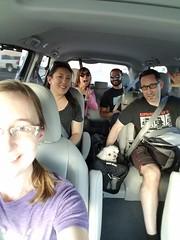 Party people in a minivan (pr0digie) Tags: liz ranisentana mikeaustin amylee balajisarpeshkar leia puppy dog minivan toyotasienna rental car interior