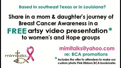 New! a glimpse of our Breast Cancer Awareness presentation (mimitalks, married, under grace) Tags: thinkingpinkforbreastcancerawareness thinkingpinkribbon thinkingpinkforbreastcancerawarenessribbon octoberawareness pink thinkpink pinkribbon thinkingpink kids girls beingaware breastcancerawarenessmonth october breastcancer breastcancerawareness digital thinkpinkforbreastcancerawareness awareness breastcancerawarenessproject thinkingpinkproject digitalbreastcancerawareness digitaldesign art layout paintshoppro paintshopprocreations paintshopprocreation photocreations photocreation creations imaging photoimaging computerdesign computergraphicspink pinkribbonawareness breastcancerimage project awarenessallcolors 2010 breast cancer squarequiltdigital square submissionquilt entryquilt design women ladies females grandmother grandma granddaughter legacy theperfectpinkdiamond pinkribbonsforawareness mimitalksmarriedwchildren mimitalksphotostream 2012digitalbreastcancerawarenessquilt digitalquiltsquareforbca quilt digitalquilt breastcancerawarenessanimatedvideopresentationintexasandlouisiana