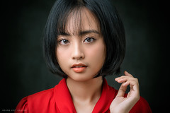 * * * (Hoàng Việt Nguyễn) Tags: people portrait face girl glamour attractive beauty young asian vietnam vietnamese dark red studio eyes shorthair