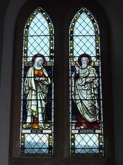 St. Mary's Church, Upton Grey, Hampshire (Living in Dorset) Tags: stainedglasswindow churchwindow church window stmaryschurch uptongrey hampshire england uk gb williamlutleysclater nuncdimittis