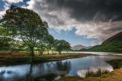 End of summer (Einir Wyn Leigh) Tags: landscape summer trees clouds wales light colorful water lake uk