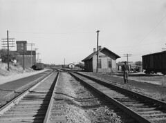 C&NW Depot at LaMoille, Iowa (Chuck Zeiler) Tags: cnw depot station lamoille railroad train libraryofcongress arthurrothstein chz