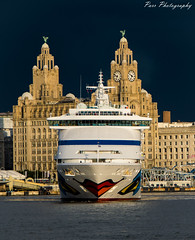 Aida Aura on River Mersey (ParrPhotography) Tags: rivermersey liverpool liverbuilding cruise liverbirds aida aura