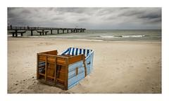 Umgeworfen - overturned (alexander_winter@ymail.com) Tags: storm sturm balticsea ostsee strandkorb strand beach rerik mecklenburgvorpommern deutschland germany