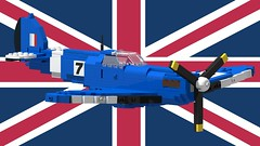 Supermarine Spitfire Mk I - Racer No 7 - 01 (Lt. SPAZ) Tags: lego supermarine spitfire wwii allies raf mk i aircraft fighter airplane british