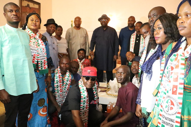 HSDickson- Condolence visit to HIS Excellency by PDP Caucus Bayelsa State Chapter. 25th August 2018