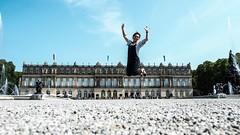 #JUMP devant le Versailles de Louis II de Bavière (Baecker_Bruno) Tags: herreninsel ludwig schloss chateau louis ii bavière bayern jump